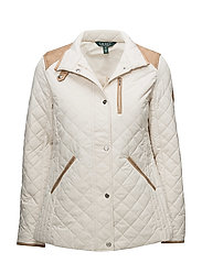 Quilted Mockneck Jacket - MODA CREAM