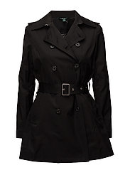 COTTON NYLON-SYNTHETIC COAT - BLACK