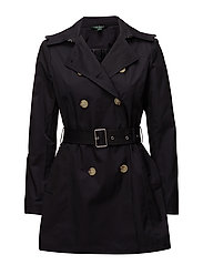 COTTON NYLON-SYNTHETIC COAT - DARK NAVY
