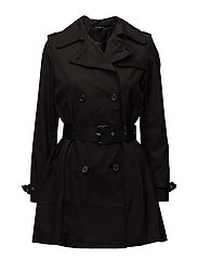 Cotton-Blend Trench Coat - BLACK