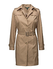 Cotton-Blend Belted Trench - RACING KHAKI