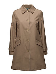 COTTON/POLYESTER-SYNTHETIC COAT - SAND