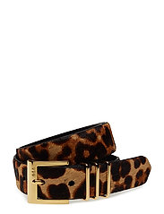 Triple-Keeper Haircalf Belt - LEOPARD