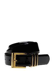 Patent Triple-Keeper Vachetta Belt - BLACK
