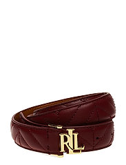 Quilted Skinny Belt - VERMILLION