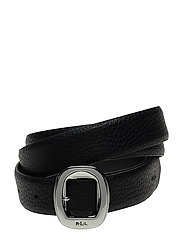 Pebbled Faux-Leather Belt - BLACK