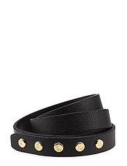 Minimalist Faux-Leather Belt - BLACK