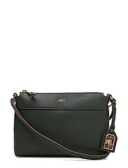 Faux-Leather Cross-Body Bag - DARK PINE/PORT