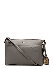 Faux-Leather Cross-Body Bag - LIGHT GREY/PALOMI