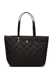 Quilted Nylon Tote - BLACK