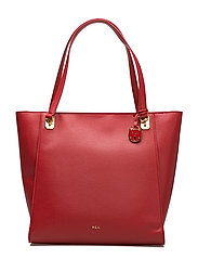 Elizabeth Pebbled Faux-Leather Tote - RED