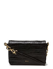 Crocodile-Embossed Carmen Crossbody - BLACK