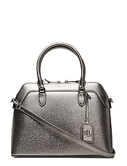 Saffiano Leather Nora Satchel - ANTIQUE SILVER