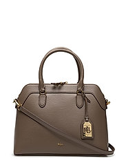 Saffiano Leather Nora Satchel - FALCON