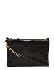 Embossed Erika Crossbody Bag - BLACK