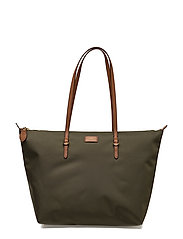 Nylon Oxford Tote - LAUREN GREEN