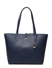 Reversible Faux-Leather Tote - NAVY/BLUE MIST