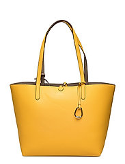 Reversible Faux-Leather Tote - SUNFLOWER/TAUPE