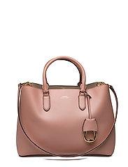 Leather Marcy Satchel - ROSE SMOKE/PORCIN