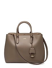 Leather Marcy Satchel - TAUPE/PORCINI
