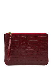 Embossed Newbury Pouch - VERMILLION