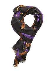 Lydia Silk Scarf - BLACK