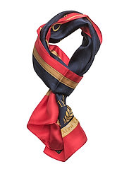 SILK TWILL-TANIA OB SCF SILK - NAVY/RED