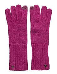 LRL Monogram Gloves - MAGENTA