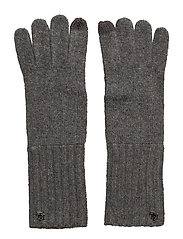 LRL Monogram Gloves - MED GREY HTHR