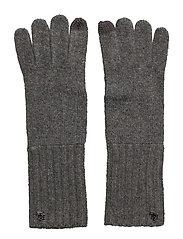 LRL Monogram Gloves - MED GREY HTHR