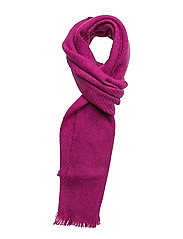 WOOL BLEND-LUXSTAPLE SOLID SCRF - MAGENTA