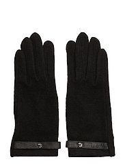Belted Touch Screen Gloves - BLACK