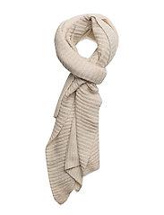 Acrylic-Blend Knit Scarf - BONE