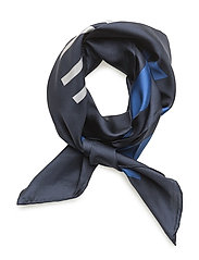 Lydia Striped Silk Twill Scarf - BLUE
