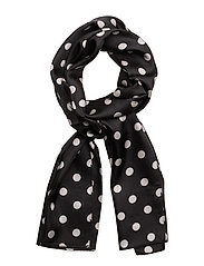 Mona Silk Scarf - BLACK