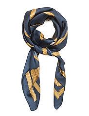 Shield Crest Silk Scarf - LIGHT BLUE