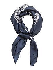 Bridle-Print Silk Twill Scarf - NAVY