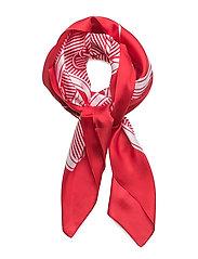 Bridle-Print Silk Twill Scarf - RED