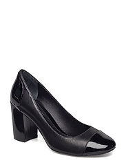 Fallon Patent Leather Pump - BLACK/BLACK