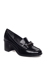 Dalena Leather Loafer - BLACK