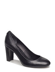 Maddie Leather Pump - BLACK