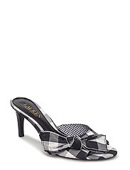 LARGE GINGHAM-GENEVIE-SN-DRS - BLACK/WHITE