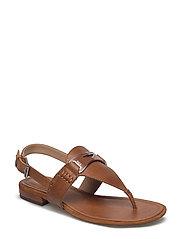Dayna Leather Thong Sandal - DEEP SADDLE TAN