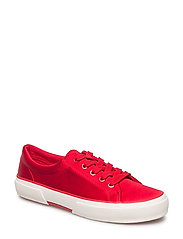 Satin Jolie Sneaker - TOMATO RED