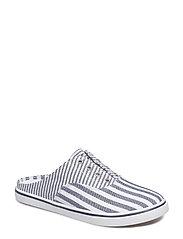 Jaida Striped Laceless Sneaker - NAVY/WHITE