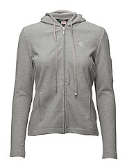 Piqué Full-Zip Hoodie - HEATHER GREY