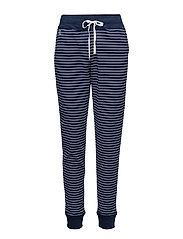 Striped Piqué Jogger Pant - NAVY/WHITE