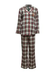 FOLDED L/S NOTCH COLLAR PJ SET - DRESS STEWART T