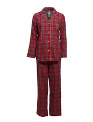 FOLDED L/S NOTCH COLLAR PJ SET - ROYAL STEWART T