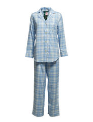 L/S NOTCH COLLAR PJ SET - CHESTER PLAID C